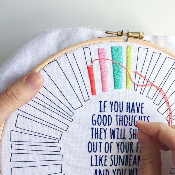 Sunbeams stitching | Hello! Hooray!