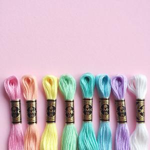 Perfect pastels DMC thread pack | Hello! Hooray!