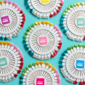 Heart shape extra long pin wheels | Hello! Hooray!