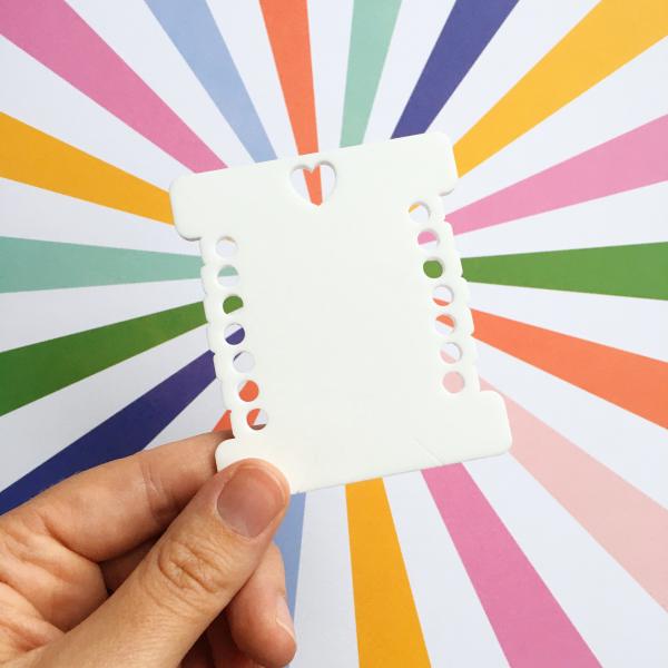 Rainbow bobbin thread sorter   Hello! Hooray!
