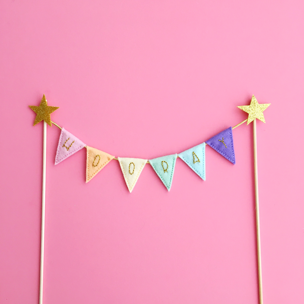 Hooray cake topper | Hello! Hooray!
