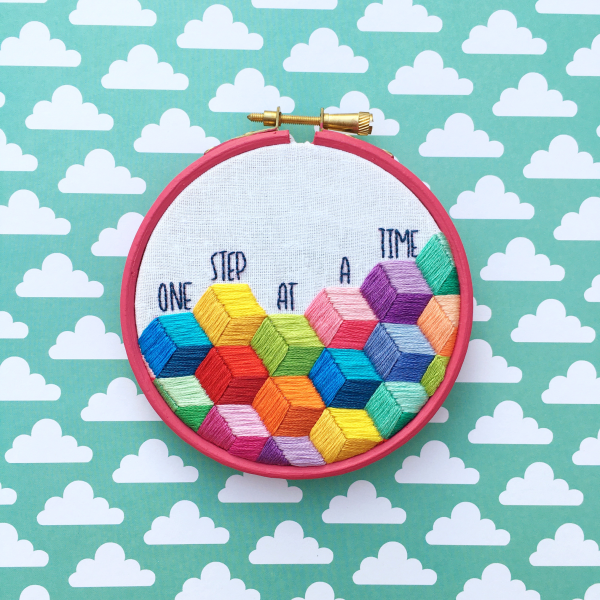 One Step at a Time embroidery kit | Hello! Hooray!