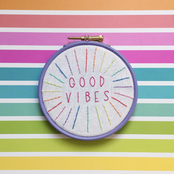 Good Vibes hand embroidery kit | Hello! Hooray!