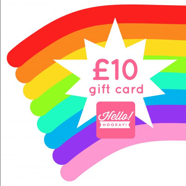 £10 Hello! Hooray! gift card