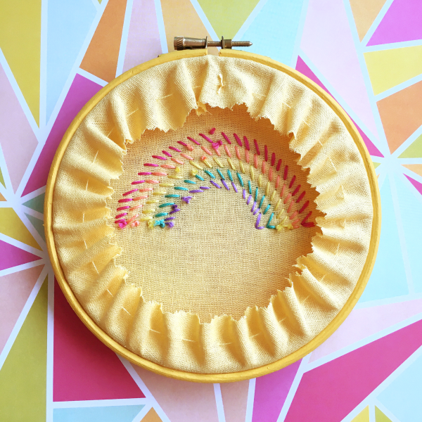 Buttercup rope rainbow hoop reverse | Hello! Hooray!