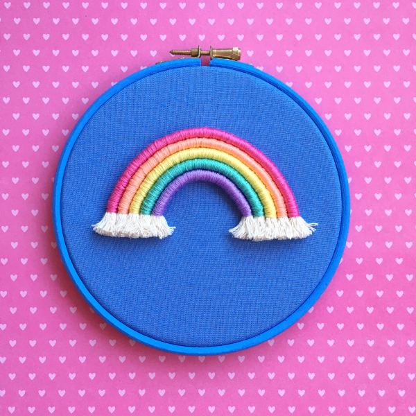 Cornflower rope rainbow hoop | Hello! Hooray!