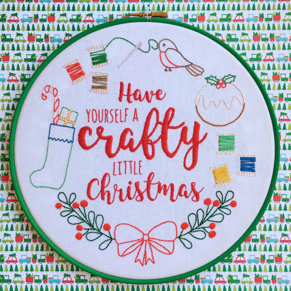 Have Yourself a Crafty Little Christmas hoop | Hello! Hooray!