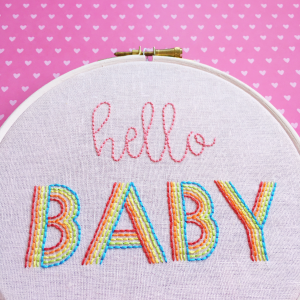 Hello baby hand embroidered hoop | Hello! Hooray!