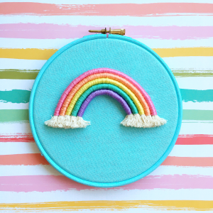 Light blue rope rainbow hoop | Hello! Hooray!