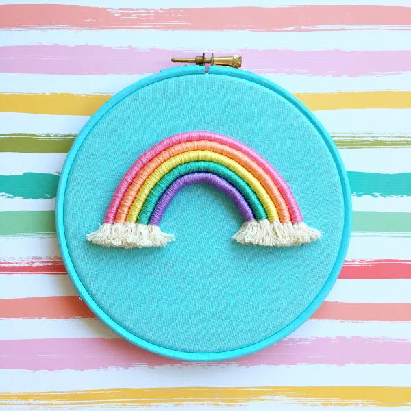 Light blue rope rainbow hoop | Hello! Hooray!