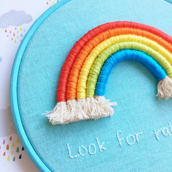 Look for rainbows hoop close up | Hello! Hooray!