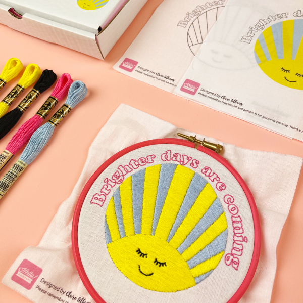 Brighter Days Are Coming hand embroidery kit | Hello! Hooray!