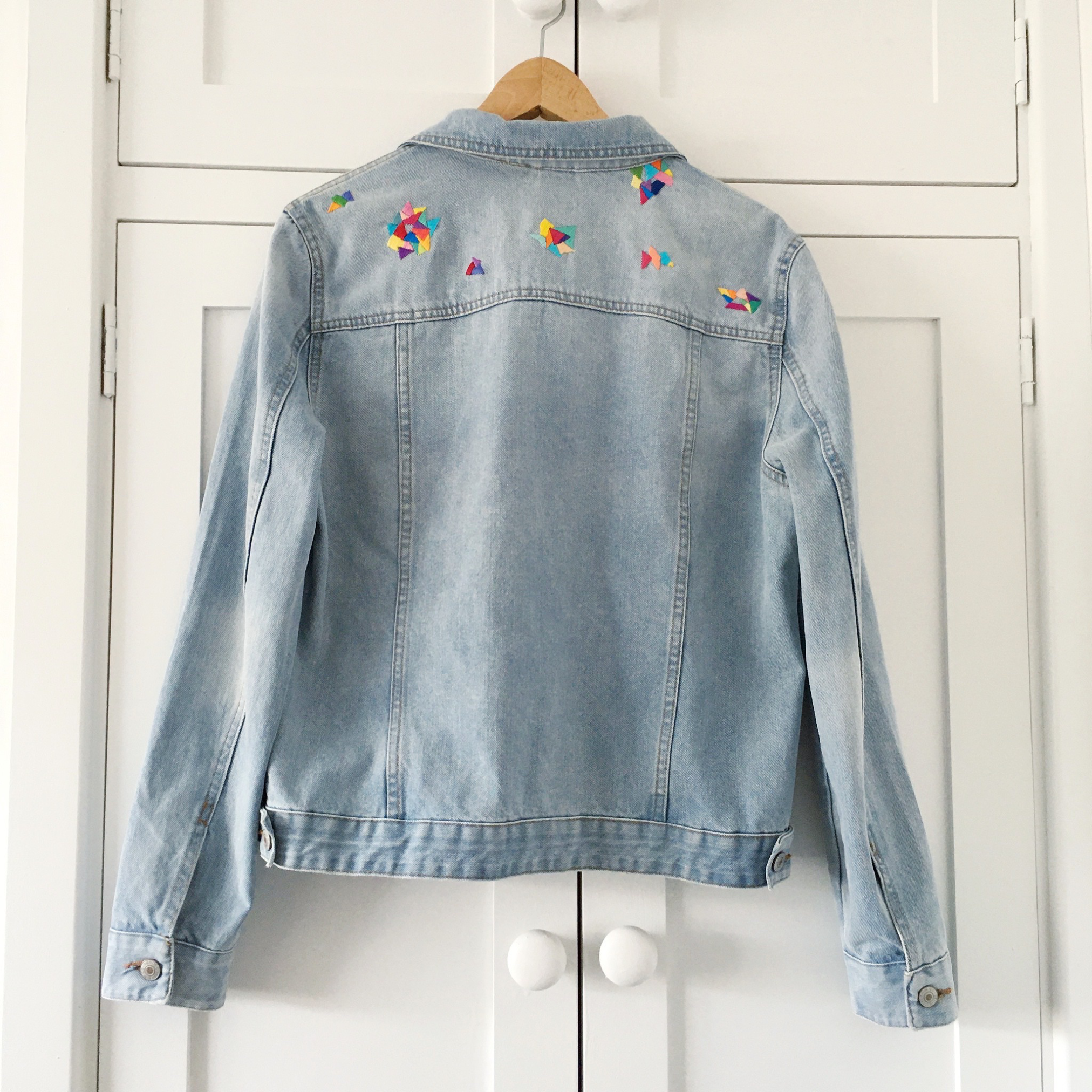 Customised denim jacket by Clare Albans | Hello! Hooray!