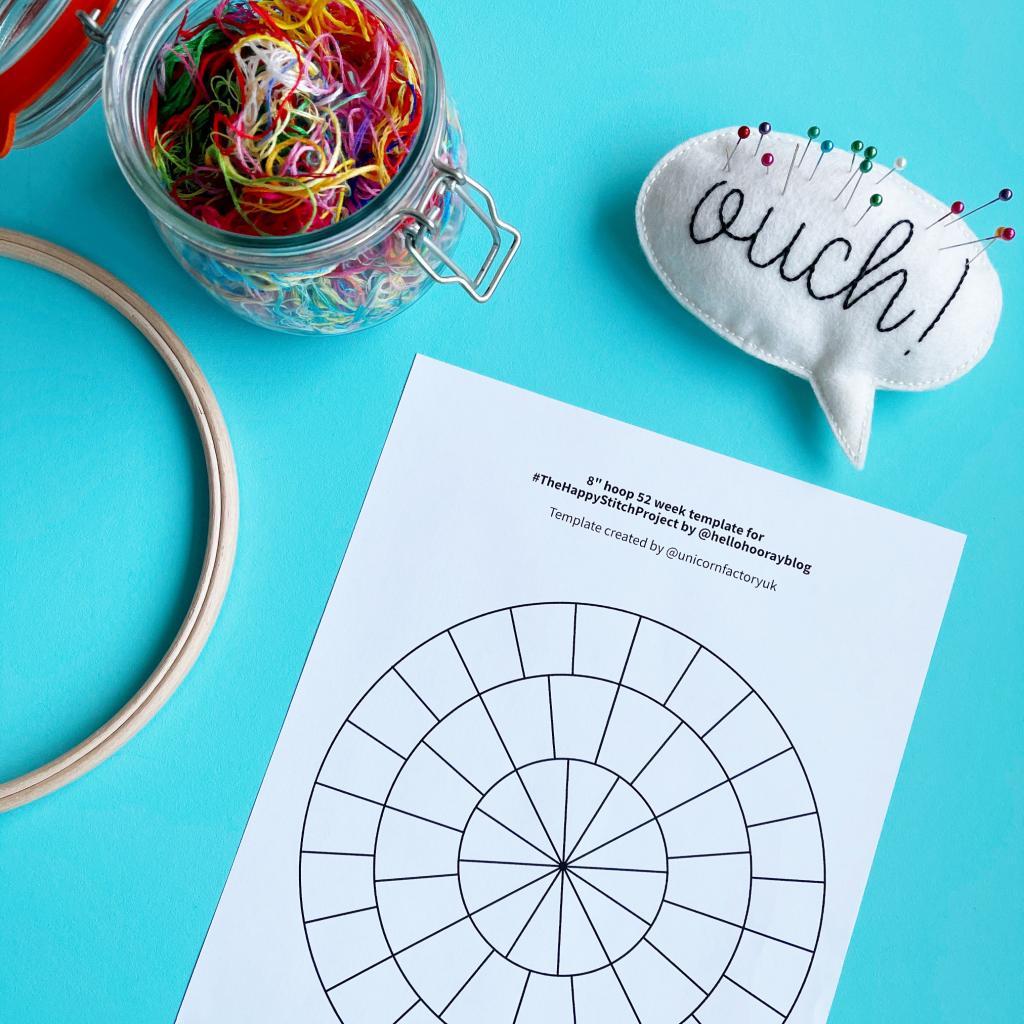Happy Stitch hoop templates | Hello! Hooray!