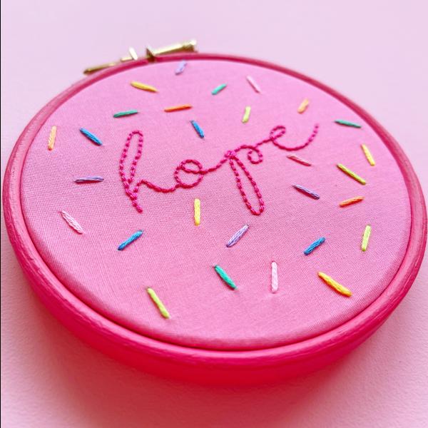 Sprinkles hand embroidery kit details | Hello! Hooray!