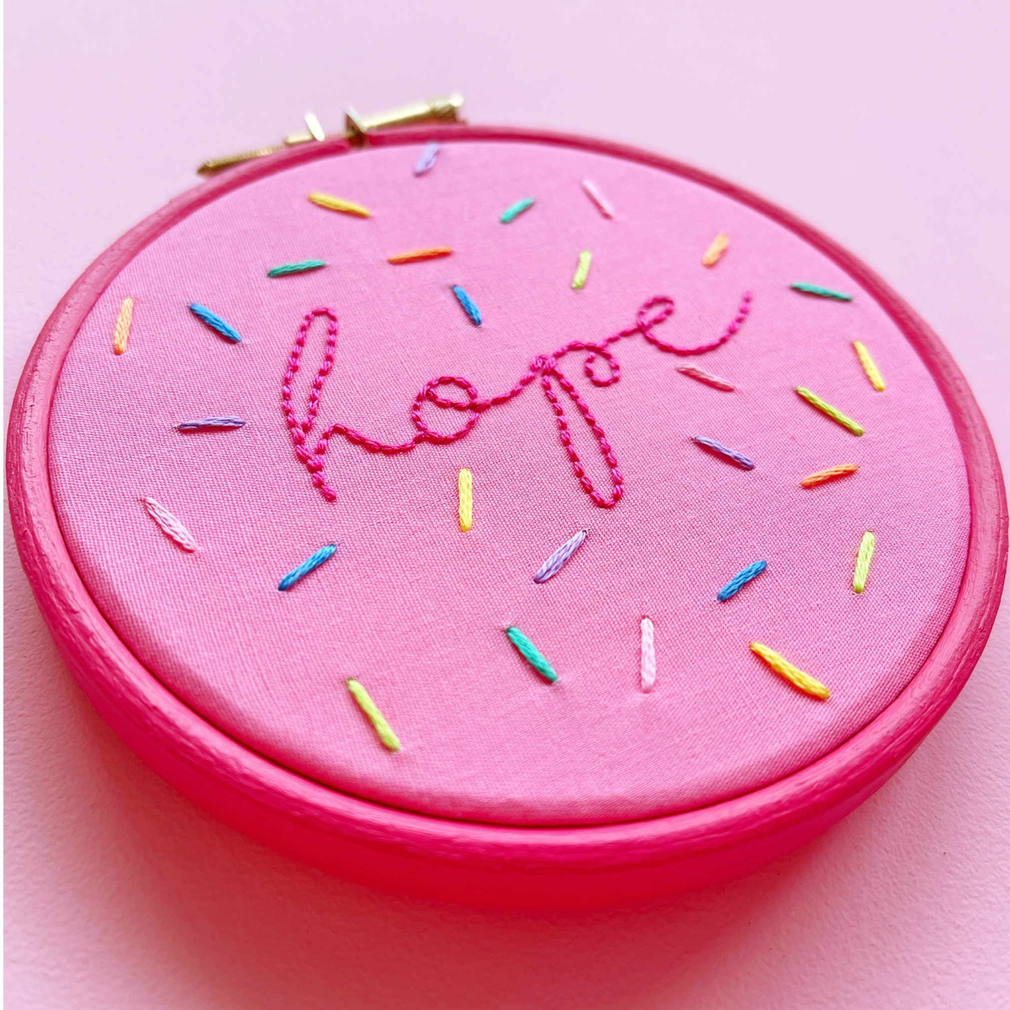Sprinkles hoop The Happy Stitch Project | Hello! Hooray!