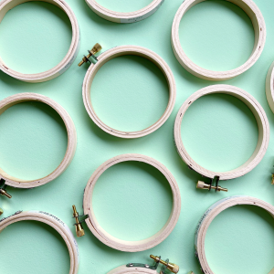 3 inch wooden embroidery hoops | Hello! Hooray!