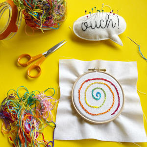 Chain stitch spiral hoop | Hello! Hooray!