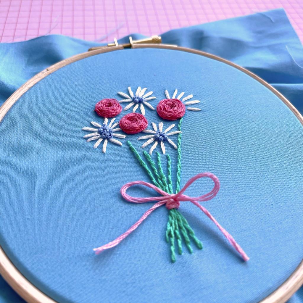 Woven rose bouquet hoop | Hello! Hooray!