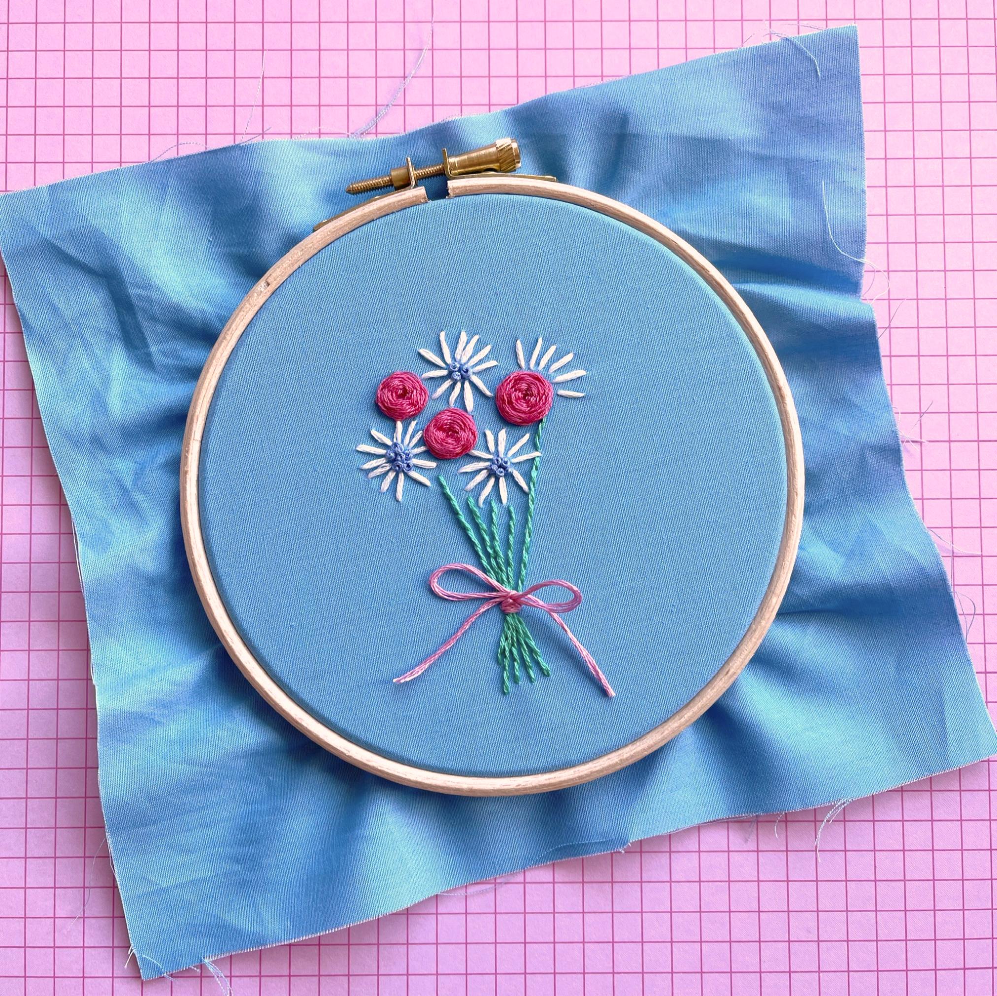 Woven spider web rose bouquet hoop | Hello! Hooray!