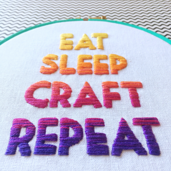 Ombre lettering online embroidery lesson | Hello! Hooray!