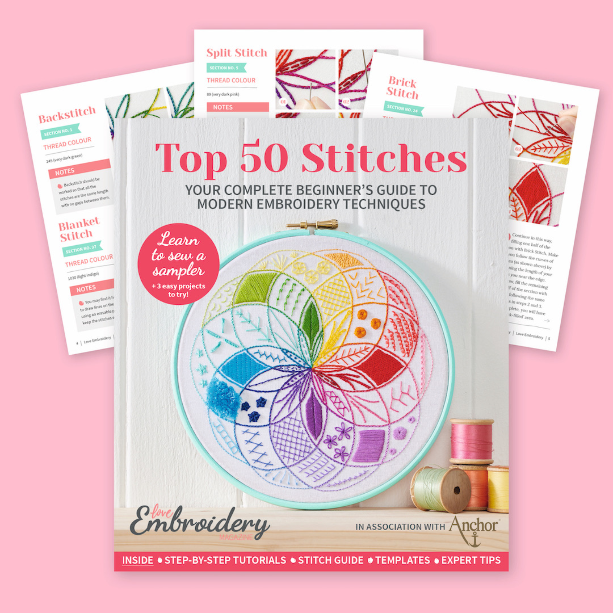 Top 50 Embroidery Stitches with Love Embroidery Magazine | Hello! Hooray!