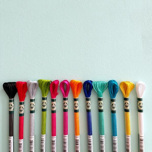 DMC satin embroidery thread | Hello! Hooray!