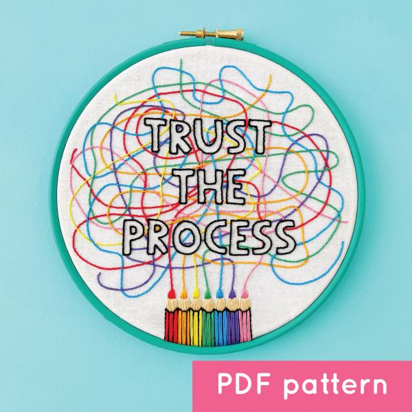 Trust the Process digital pattern   Hello! Hooray!