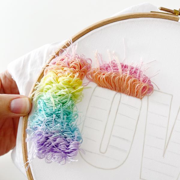 LOVE embroidery kit   Hello! Hooray!
