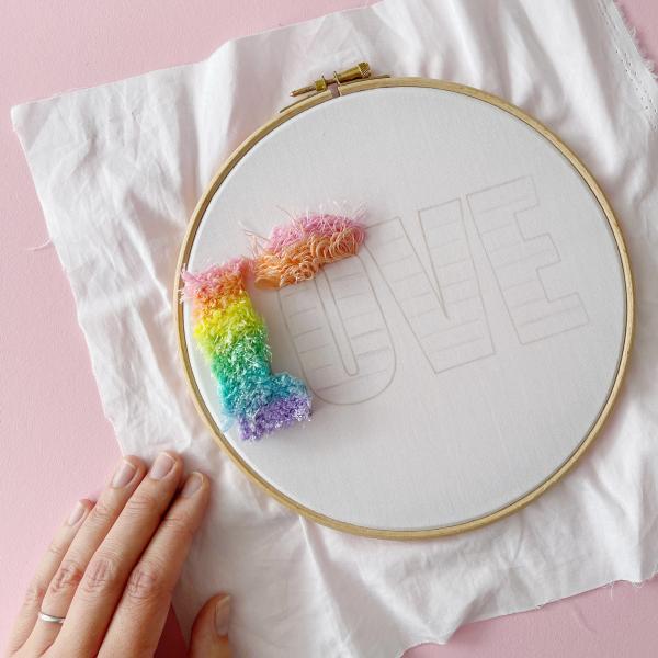 LOVE hand embroidery kit   Hello! Hooray!