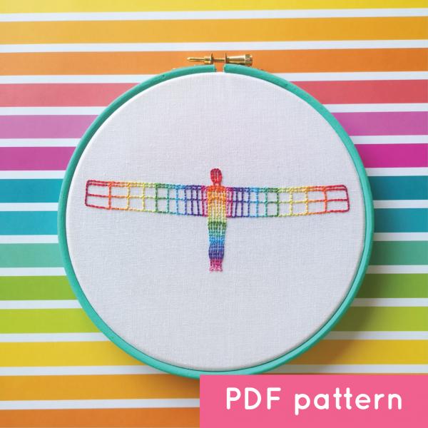 Rainbow Angel digital pattern | Hello! Hooray!